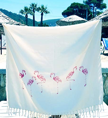 Secret Sea Collection, Lightweight Peshtemal Beach & Bath Towel, Bamboo (62'' x...
