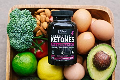 Exogenous Ketones BHB Keto Pills (2870mg   120 Capsules) Keto Diet Pills w. MCT Oil, BHB Salts Beta Hydroxybutyrate, Natural Caffeine - Keto Supplement for Keto Weight Loss - Keto Diet from Shark Tank by Zeal Naturals (Image #2)