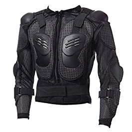 Full Body Motorcycle Riding Jacket Armor Spine Shoulder Chest Protection