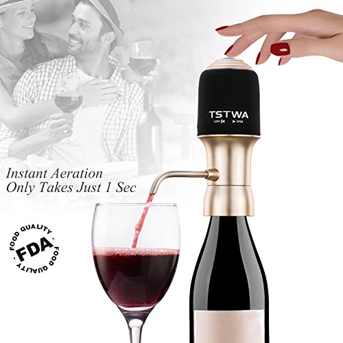 Electric Wine Aerator Decanter Dispenser Instant Luxury One Touch Portable Red and White Wine Accessories Aeration Aerator for Wine and Spirit Beginner and Enthusiast -Convenient Spout - Gift Box (Luxury Wine Gifts)