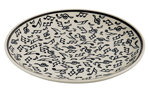 Traditional Polish Pottery, Handcrafted Ceramic Dessert Plate 19cm, Contemporary Pattern, T.102.Melody