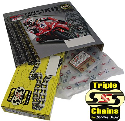 TRIPLE S CHAIN & JT SPROCKET KIT - HEAVY DUTY CHAIN JTKHCBF1A Triple SSS Chain & JT sprockets