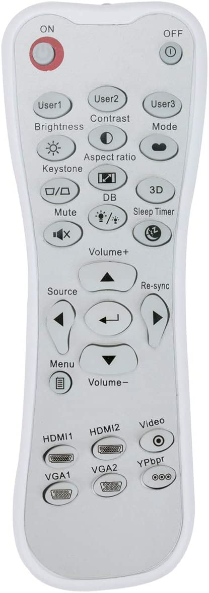 New Replacement Remote Control Applicable for Optoma Projector HD26 Gt1080 HD141X HD143X HD142X