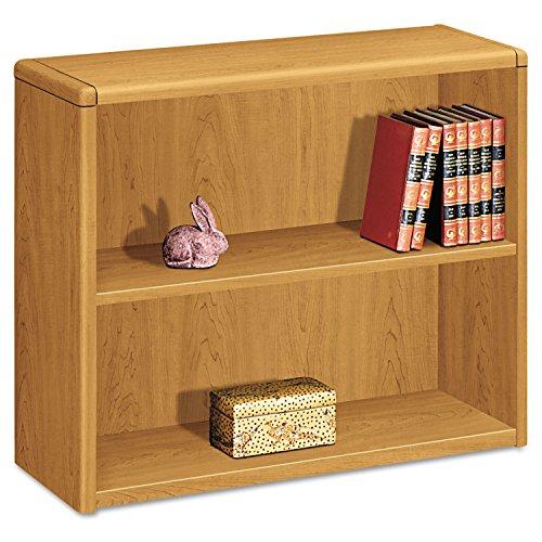 Shelf Radius Edge Bookcase - HON Laminate Harvest Bookcases - 36quot; x 13.1quot; x 29.6quot; - Wood - 2 x Shelf(ves) - Double Radius Edge, Stain Resistant, Scratch Resistant - Harvest