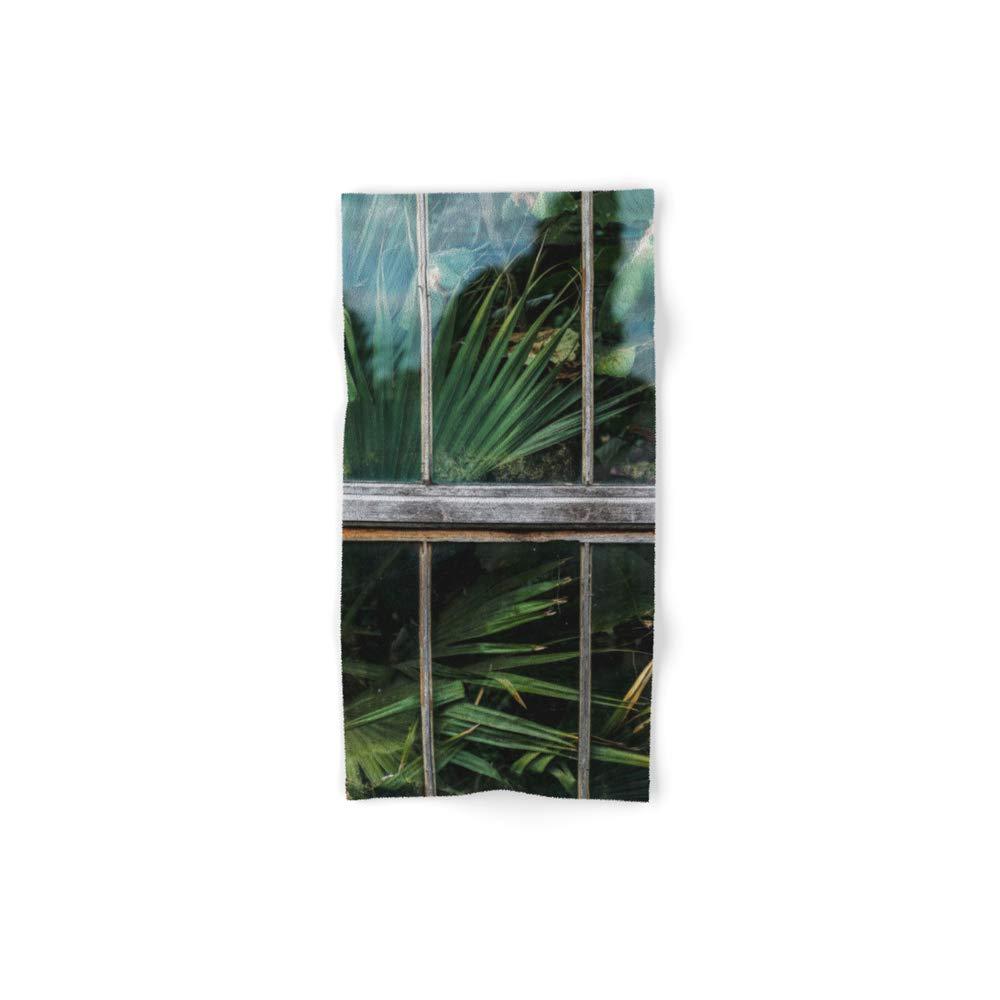Society6 Bath Towel, 30'' x 15'', Botanical Window by followmeaway