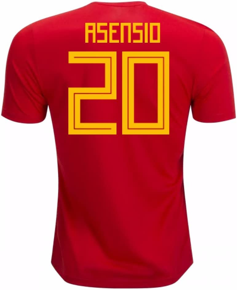 2018-19 Spain Home Football Soccer T-Shirt Camiseta (Marco Asensio 20): Amazon.es: Deportes y aire libre