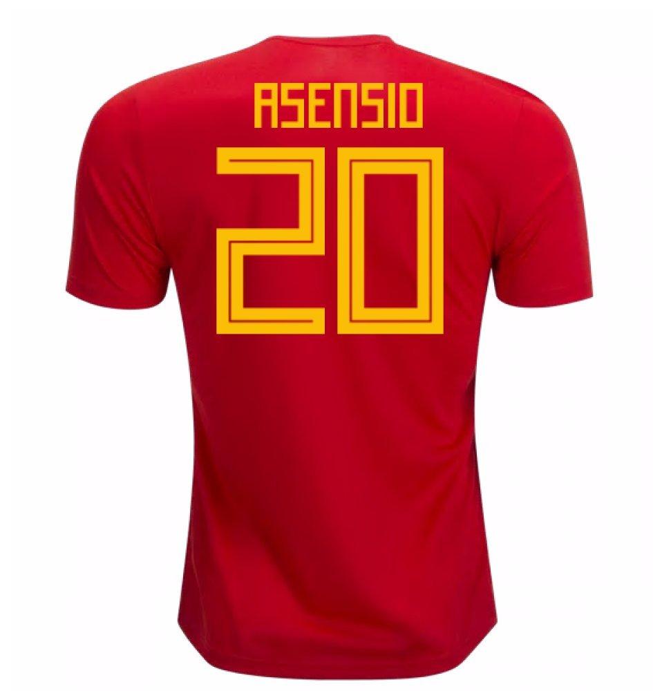 2018-19 Spain Home Football Soccer T-Shirt Trikot (Marco Asensio 20)