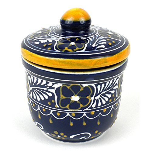 Hand-painted Sugar Bowl in Blue - Encantada Pottery