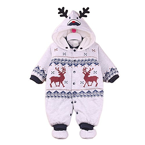 329df0427968 Weiyun Toddler Newborn Baby Boys Girls WRM Cartoon Hoodie Rompers Outfits  Clothes