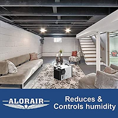 AlorAir Basement/Crawl Space Dehumidifiers 198 PPD (Saturation), 90 PPD  (AHAM), 5 Years Warranty, HGV Defrosting System, cETL, up to 2,600 Sq  Ft,
