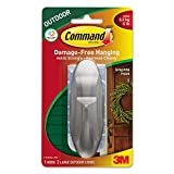 All Weather Hooks And Strips, Plastic, Large, 1 Hooks & 2 Strips/pack By: Command
