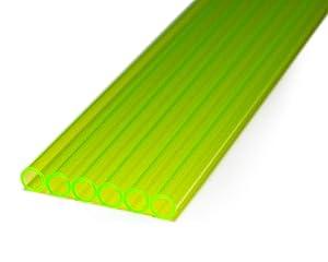 PrimoChill 1/2in. O.D. Rigid PETG Tube - 6 x 30in. - UV Green