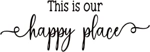 ZSSZ This is Our Happy Place Sweet Words Wall Decals Vinyl Art Letters Home Décor
