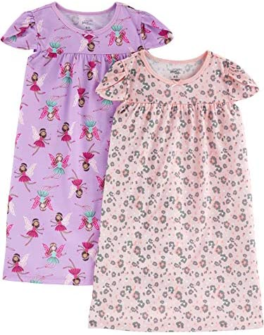 Simple Joys by Carter's Little Kid Girls' 2-Pack Nightgowns