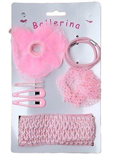 Girls Pink Ballerina Hair Set Universal Ballerina