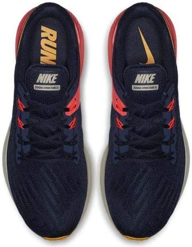 Nike Air Zoom Structure 22 AA1636 400 Blackened BlueOrange PeelFlash Crimson Men's Running Shoes (10.5)