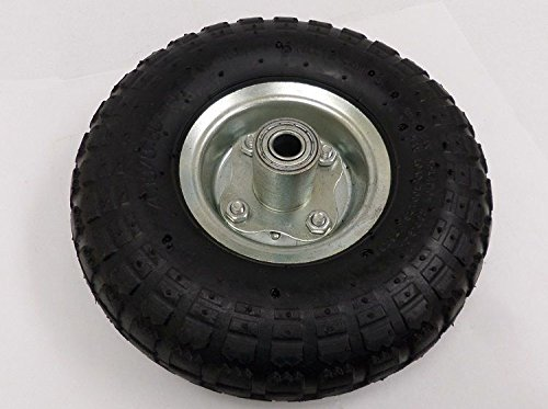"GHP Set of 2 10"" Hand Trucks Wagons Carts Air Tires Wheels w 5/8"" Center"
