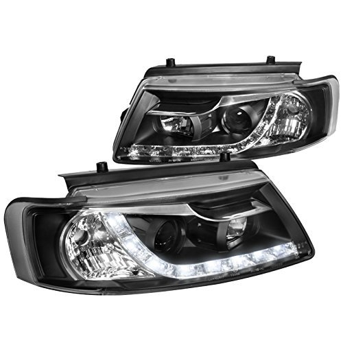 Spec-D Tuning LHP-PAS97JM-8-TM For VW Passat B5 R8 LED Loop Black Projector Head Lights Lamp