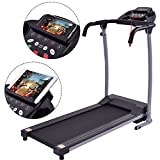 GHP 800W Black Foldable Gym Exercise Treadmill with Multi-function LED Display