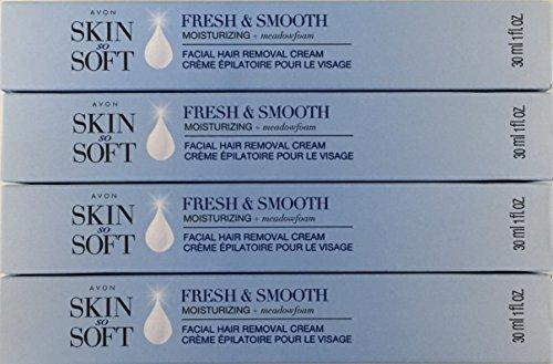 Avon Skin So Soft Fresh & Smooth Moisturizing Facial Hair Removal Cream - Set of 4
