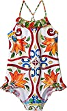 Dolce & Gabbana Kids Girl's Swimsuit One-Piece (Big Kids) Maiolica Print 10