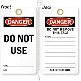 Do Not Use, Heavy Duty 15 mil thick Vinyl Tag, 25 Tags / Pack, 3.25'' x 6''