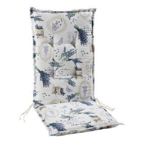 Best 04201640 cuscino per sedia con schienale alto, 120 x 50 x 7 cm, Multicolore, motivi assortiti 120x 50x 7cm