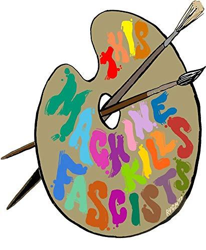 - MAGNET This Palette Kills Fascists Magnet Decal Fridge Metal Magnet Window Vinyl 5