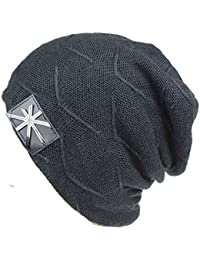 Unisex Knit Beanie Skull Hats Soft Fleece Lined Slouchy / Thick Warm Winter Cap
