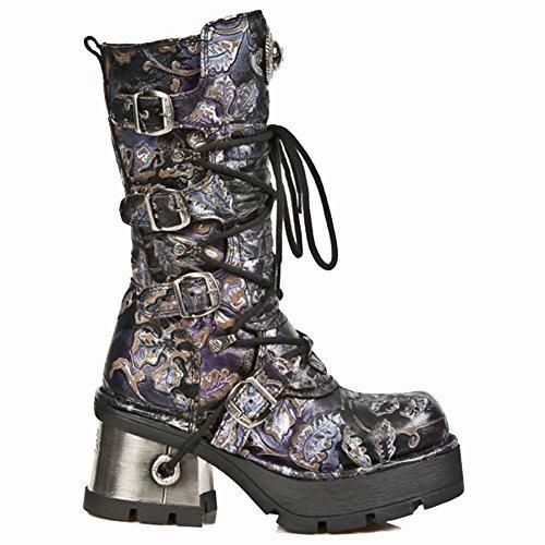 New Rock Metallic Violet Bottes M.373-S24