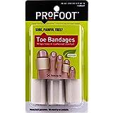 """PROFOOT, Toe Bandages, One Size (4"""" Long), 3"""