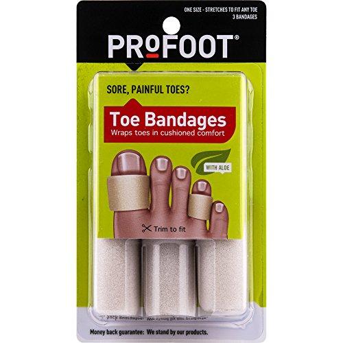 - PROFOOT, Toe Bandages, One Size (4