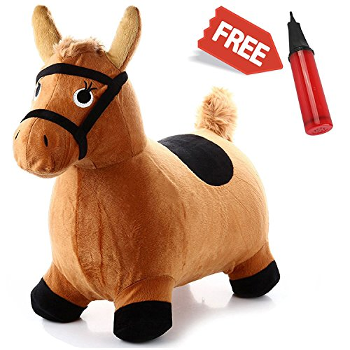 [Hopping Horse - iPlay, iLearn Toddler Horse Hopper Inflatable Ride On Horse Toys Plush covered with] (Bouncy Ball Costume)