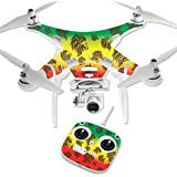 MightySkins Protective Vinyl Skin Decal for DJI Phantom 3 Standard Quadcopter Drone wrap cover sticker skins Rasta Lion
