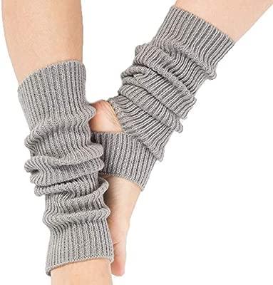 oobest Calentamiento de Punto Largo Calentadores Deportivos para Las piernas Botas para el puño Calcetines hasta la Rodilla Crochet para Bailar Yoga