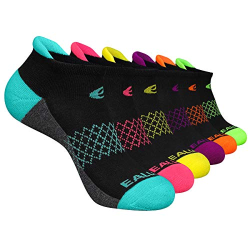 Eallco Womens Ankle Socks 6 Pairs Running Athletic Cushioned