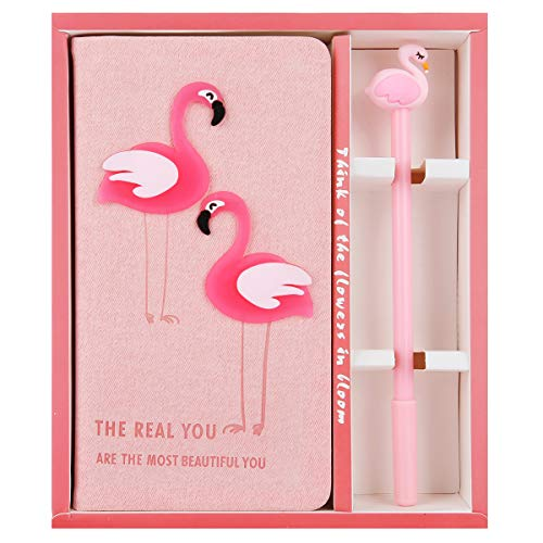 Unicorn Notebook Violet Mist Stationery Diary Notebook with Gel Pen Journal Set Birthday Gifts for Girls Kids (Flamingo 2) -