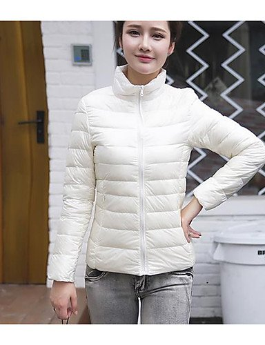 amp; Simple Activo a acrílico polipropileno otro de rayas con USCIRE larga TT ShangYi algodón morado Abrigo para liso mujer manga impresiones relleno dqf0CYw
