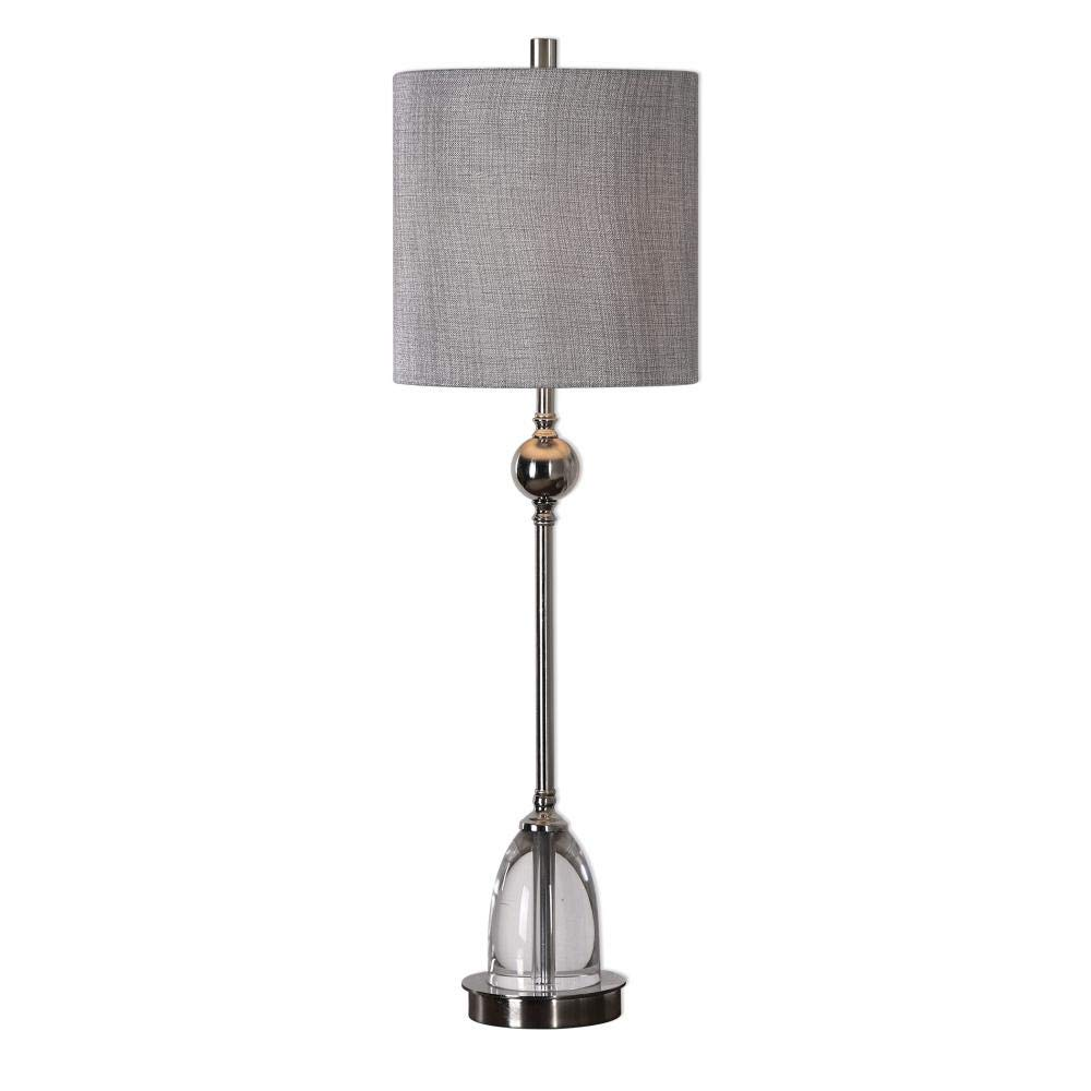 Uttermost Gallo Polished Nickel Tall Goblet Table Lamp by Uttermost