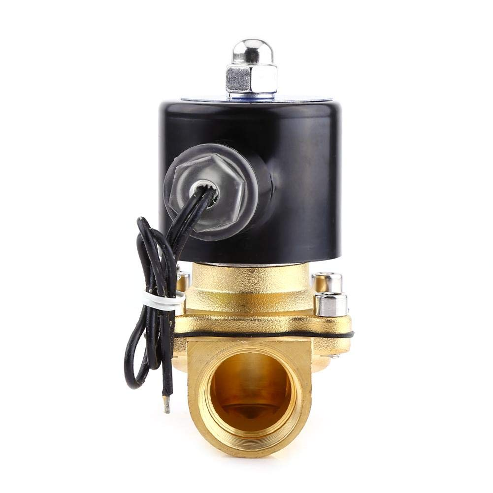 Solenoid Valve DC24V 3//4Inch DN20 Normally Closed Electric Solenoid Valve Switch Replacement for Water Gas Oil