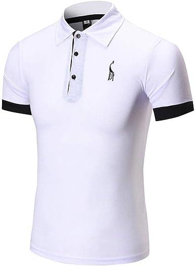 Saoye Fashion Camisa De Manga Corta De Solapa De Verano para Ropa Hombre Print Camisa De Manga Larga De Sport para Hombre Slim Breasted Casual: Amazon.es: Ropa y accesorios