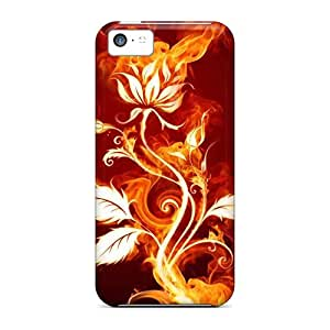 For WIU379eeod Flaming Rose Protective Case Cover Skin/iphone 5c Case Cover