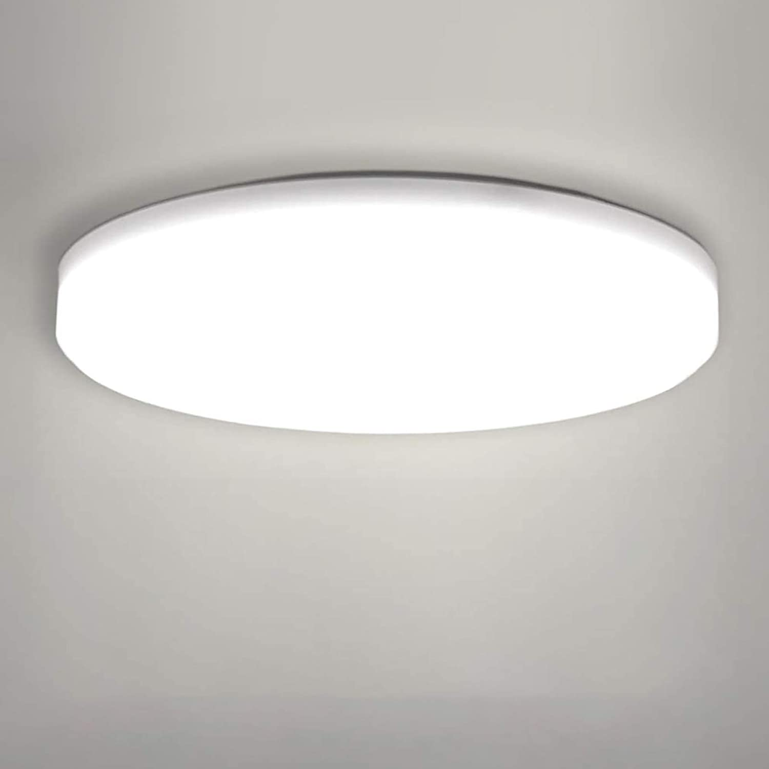 LED Ceiling Lamp, OOWOLF Modern 8W Led Ceiling Light Fixture Ultra Thin  8.8in 8LM 8K Natural White for Bathroom Bedroom Kitchen Living Room