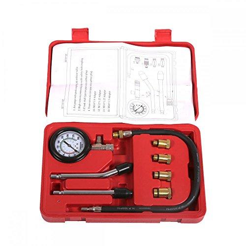 New 8pc Petrol Engine Cylinder Compression Tester Kit Gauge Tool Automotive (Cylinder Tester)