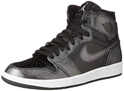Nike Mens Air Jordan 1 Retro High Top Basketball Shoe Black/Black-White 10 (Jordan Air Men 10 Retro)