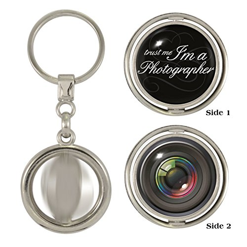 Trust Me I'm A Photographer & Camera Lens 2-Sided Spinner - Paparazzi Lens