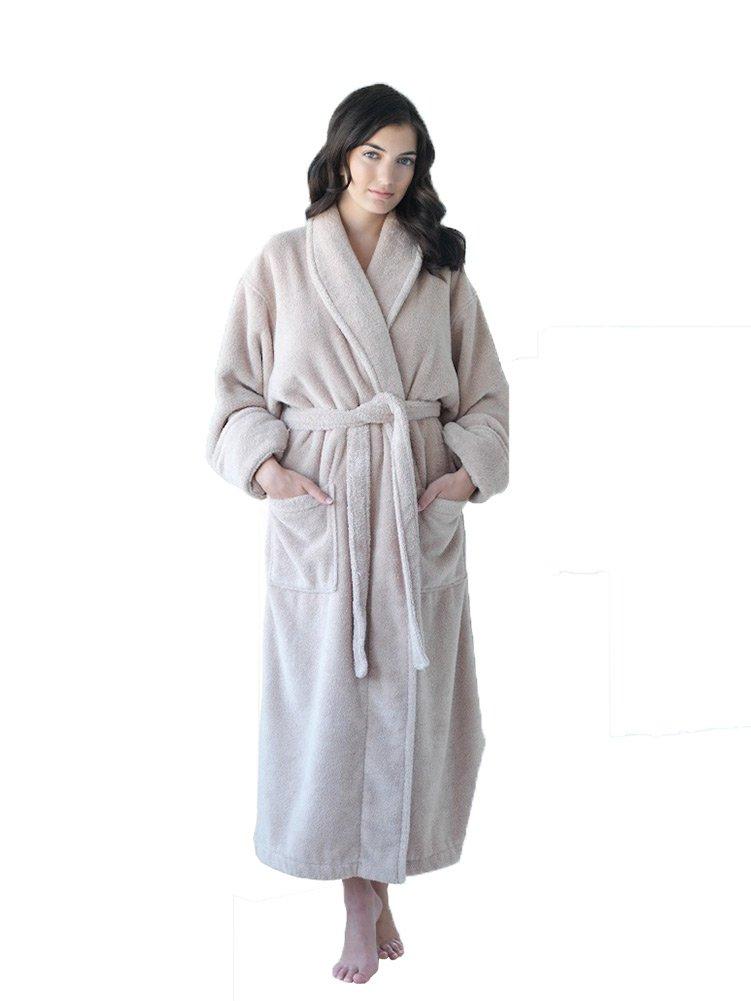 Thirsty Towels-Lt. Presidential Turkish Cotton Shawl Collar Robe 2XL Beige