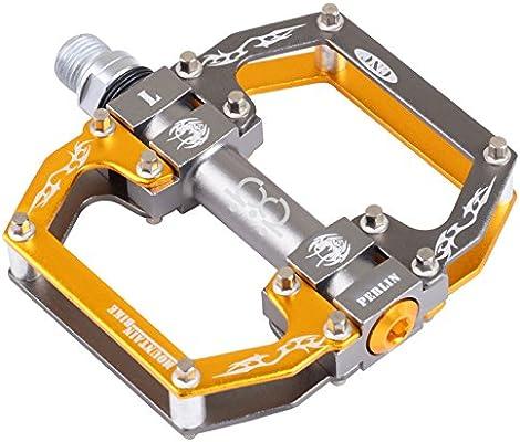 TXJ En-Mold Aluminio Rodamiento Pedal de Bicicleta (Titanio-Negro ...