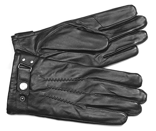 MoDA Mr Philadelphia Men's Leather Gloves with Touch Function for Texting Smart Phones