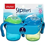 Playtex Sipsters Stage 1 Spill-Proof, Leak-Proof, Break-Proof Soft Spout Sippy Cups - 6 Ounce - 2 Count (Colors May Vary)